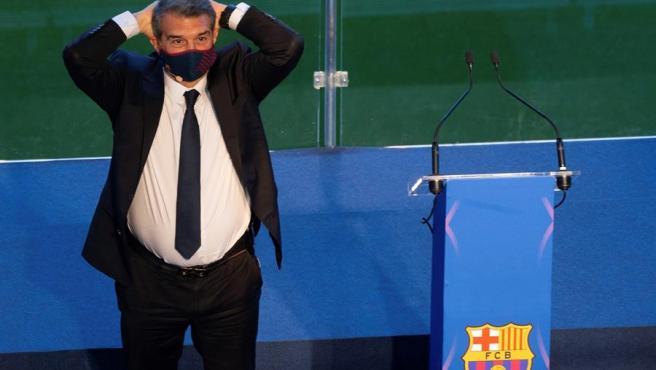 Investidura de Joan Laporta en el Barça
