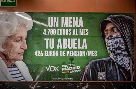 Campaña racista de VOX en las elecciones a la Comunidad de Madrid