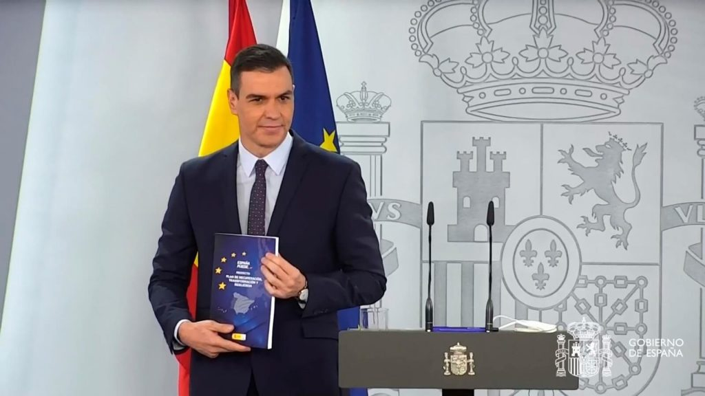 Pedro Sánchez presentó el plan de recuperación.