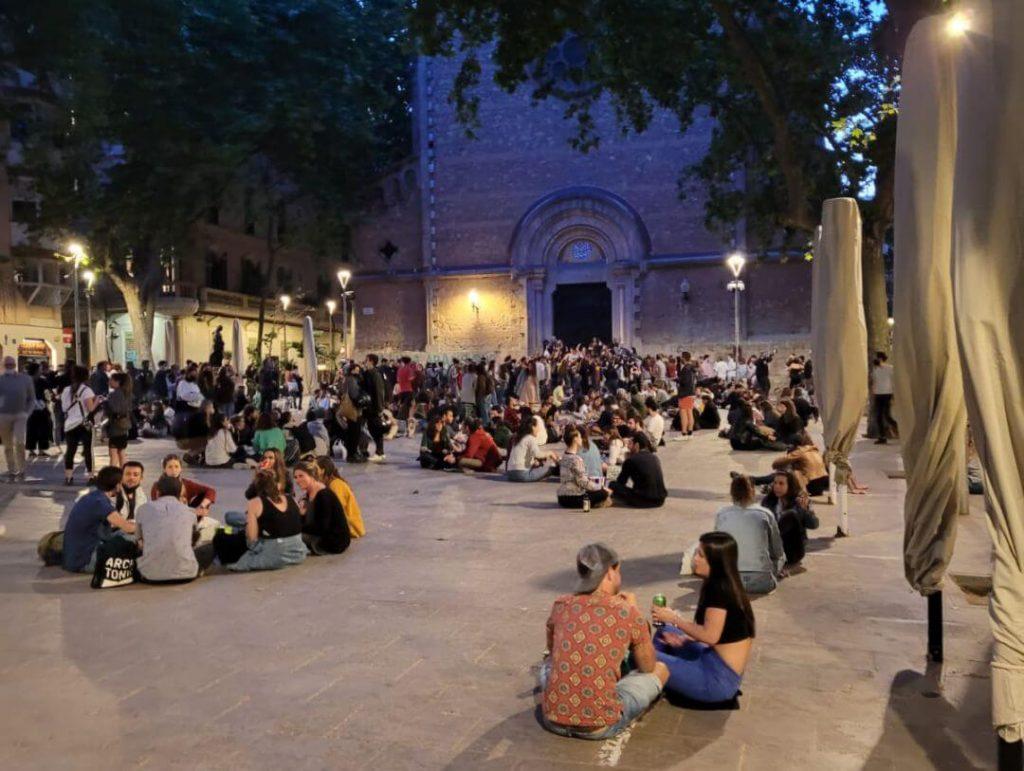 Los botellones en Barcelona después del estado de alarma