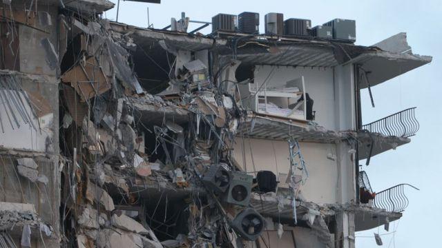 Derrumbe de un edificio de la ciudad de Miami
