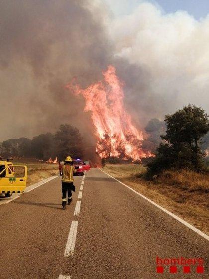 Alto riesgo de incendios en Catalunya