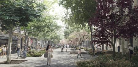 Nuevos ejes verdes en el Eixample de Barcelona